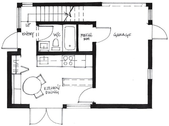 Home Design Plans For 500 Sq Ft 500 Square Foot Small House