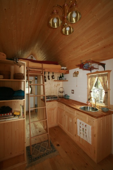Interior of Ella's Tumbleweed Tiny House