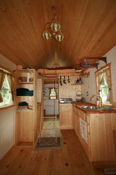 Interior of Ella's Tumbleweed Fencl Tiny House