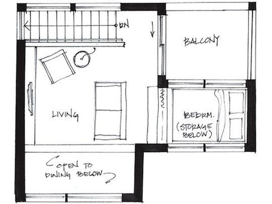 Second Level Floor Plan for Small House