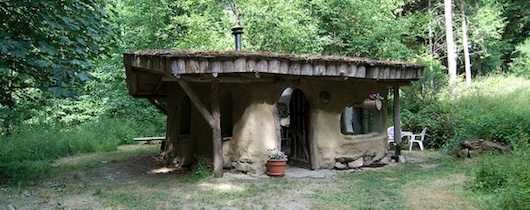 Pat's 240 square foot cob home