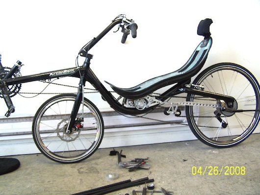 Matt's Electric Recumbent Bicycle