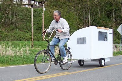 Pauls Friend Pulling Bicycle Camper