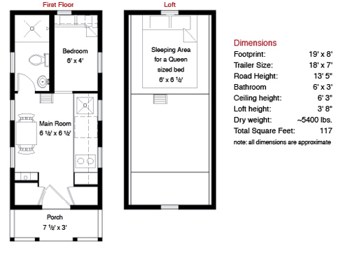 Lusby tiny house floor plan