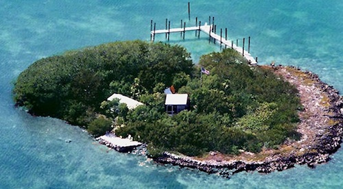 Private Island in the Keys with a Houseboat