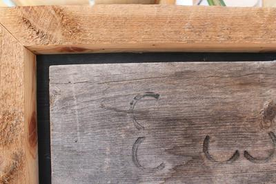 detail of reclaimed wood accent