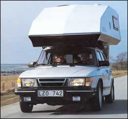Toppola Saab Camper Front View