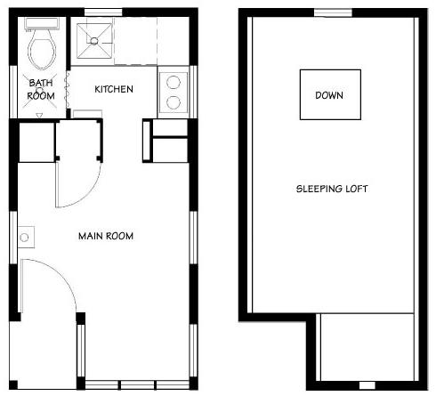 Tumbleweed weebee tiny house for Tumbleweed floor plans