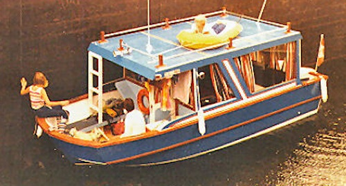 Small Wooden House Boat