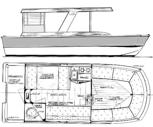 Wooden House Boat Floor Plan