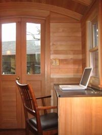 Don Vardo Gypsy Wagon Interior -- Desk