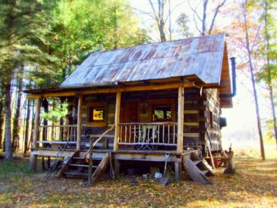 Hand hewn log cabin for Hewn log cabin kits