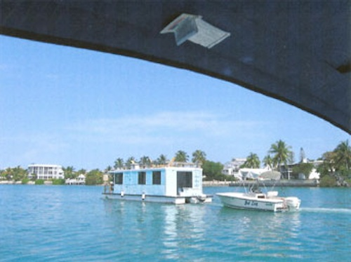 House Boat in the Keys with Fishing Boat