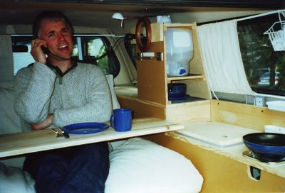 Paul in his Tiny Toyota Truck Camper